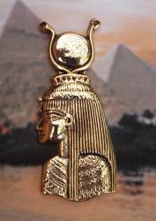Large Head of Isis Pendant Available on Display Card
