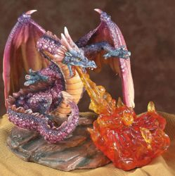 Medium Rainbow Fire-Breathing Dragon