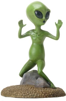 Alien Escaping Statue