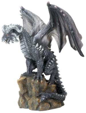 Dark Dragon On Rock