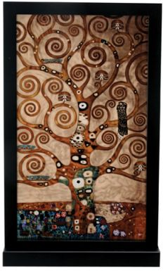 Klimt - Tree Of Life Art Glass Decoration