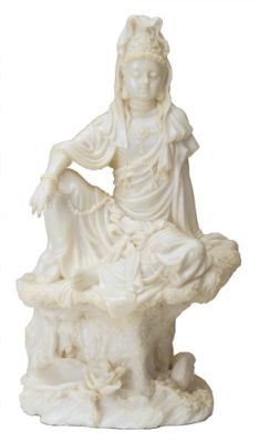 Water And Moon Guan Yin  Statue - Marble Finish