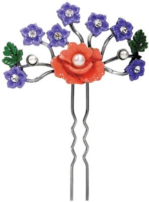Art Nouveau Poppy Hair Pin Hair Accessory
