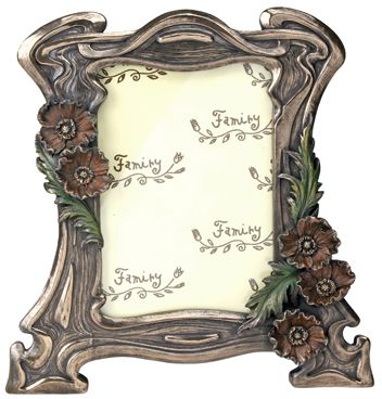 Art Deco - Art Nouveau Poppy Photo Frame