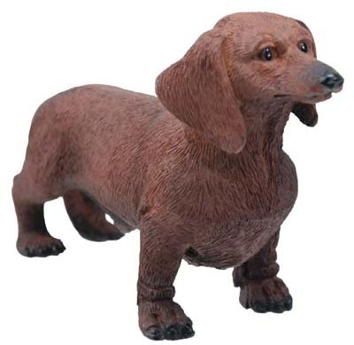 Dog Breed Statues - Chocolate Dachshund