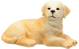 Dog Breed Statues - Golden Retriever Puppy Statue