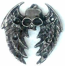 Eagle Wing Skull Jewelry Pendant