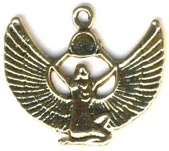 Egyptian Isis With Solar Disk Pendant