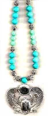 Egyptian Pharaohs Turquoise Necklace