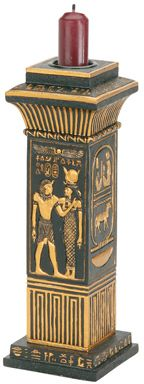 Ancient Egyptian Column Candle Holder