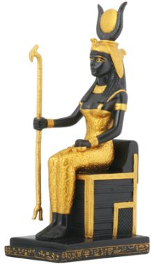 Ancient Egyptian Sitting Egyptian Isis Statue