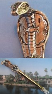 Fabulous Egyptian Cobra Crystal Scepter Wand