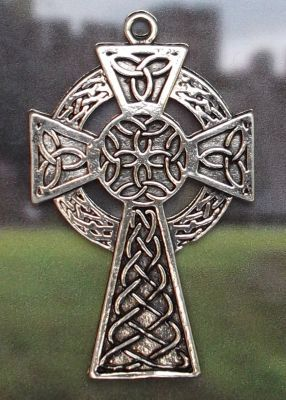 Flanns Celtic Cross - Solid Celtic Jewelry Pendant