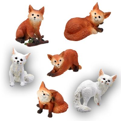 Fox Statues (Set of 6)