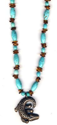 Southwest Sunset Handmade Gemstone Necklace