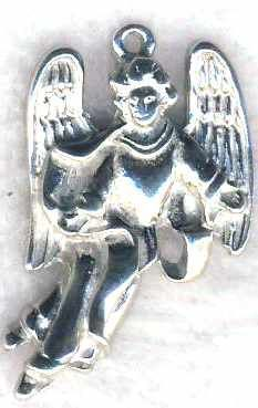Singing Guardian Angel Jewelry Pendant