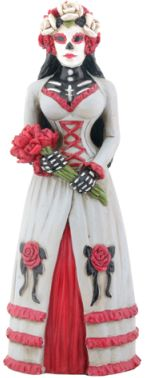 Day Of The Dead Gothic Bride Skeleton Statue