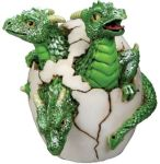 3-headed Dragon Hatchling Figurine Statue