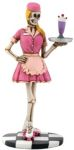 1950s Skeleton Waitress Statue
