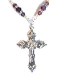 Amethyst Renaissance Cross Celtic Necklace