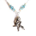 Aquamarine Mythical Mermaid Necklace