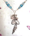 Aquamarine Romance Fairy Necklace