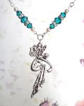 Blue Zircon Romance Fairy Necklace