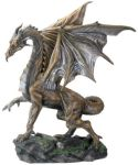 Brown Midnight Dragon Statue