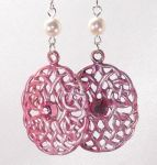 Dark Pink Celtic Eternal Life Earrings