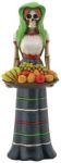 Day Of The Dead Fruit Lady Gothic Skeleton Statue
