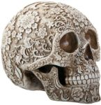Day Of The Dead Floral Skull Statue