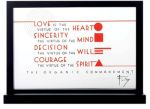 Frank Lloyd Wright - Organic Commandments Glass