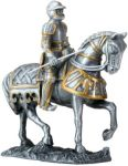 German Knight On Horse - Pewter