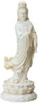 Large Standing Kuan Yin Statue - Marble Finish