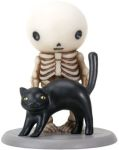 Lucky Sees A Black Cat Boy Skeleton Statue
