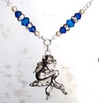 Mediterranean Blue Mythical Mermaid Necklace