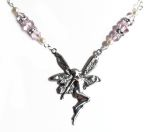 Pink Sapphire Good Luck Fairy Necklace
