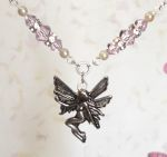 Pink Sapphire Happiness Fairy Necklace