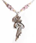 Pink Sapphire Romance Fairy Necklace