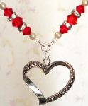 Ruby Faithful Heart Necklace