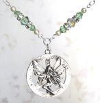 Sea Green Peace Fairy Necklace