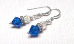 Sterling Silver Swarovski Crystal  Earrings - Capris