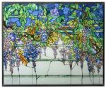 Wisteria Art Glass Panel