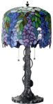 Wisteria Art Glass Lamp