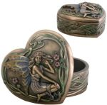 Art Nouveau - Art Deco Fairy Heart Jewelry Box