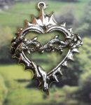 Barbed Wire Heart Jewelry Pendant