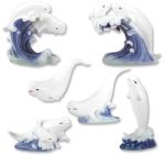 Beluga Whale Figurines  (Set of 6)