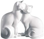Bone China - Kitty Love Cat Figurine Statue