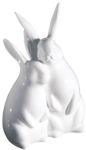 Bone China Rabbit Figurine - Bunny Love Statue