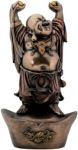Buddha On Nugget Statue - Bronze Finish